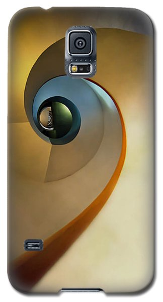 Golden And Brown Spiral Staircase Galaxy S5 Case