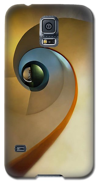 Golden And Brown Spiral Staircase Galaxy S5 Case by Jaroslaw Blaminsky