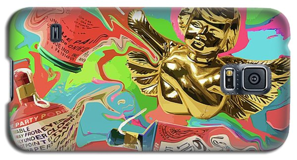 Golden Angel With Party Poppers Galaxy S5 Case
