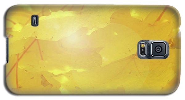 Golden Autumn Leaves Galaxy S5 Case
