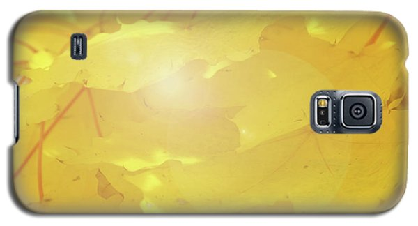Golden Autumn Leaves Galaxy S5 Case