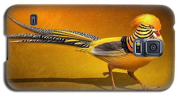 Golden Chinese Pheasant Galaxy S5 Case