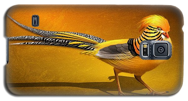 Golden Chinese Pheasant Galaxy S5 Case by John Wills