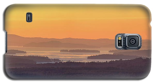 Galaxy S5 Case featuring the photograph Golden Dawn Over Squam And Winnipesaukee by Sebastien Coursol