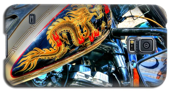 Galaxy S5 Case featuring the photograph Golden Dragon by Adrian LaRoque