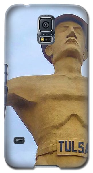 Golden Driller 76 Feet Tall Galaxy S5 Case by Janette Boyd