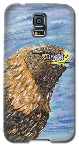 Galaxy S5 Case featuring the painting Golden Eagle by Scott Wilmot