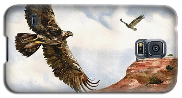 Golden Eagles In Fligh Galaxy S5 Case