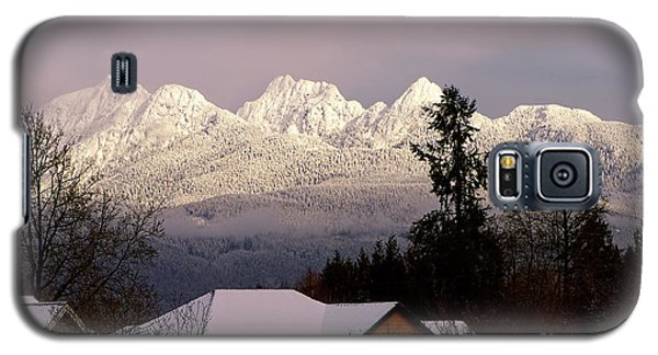 Galaxy S5 Case featuring the photograph Golden Ears Mountain View by Sharon Talson
