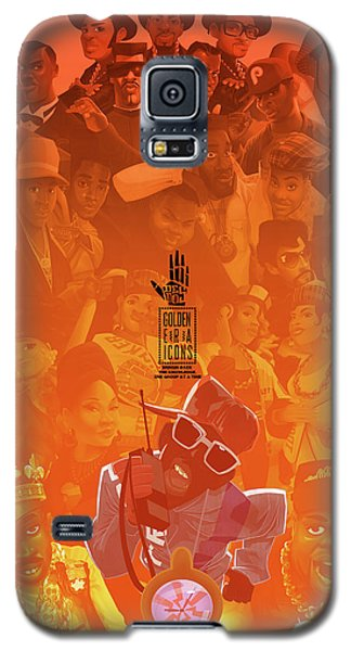 Galaxy S5 Case featuring the digital art Golden Era Icons Collage 1 by Nelson dedos Garcia