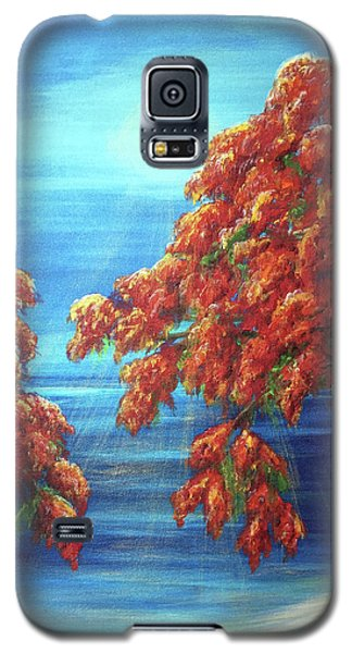 Golden Flame Tree Galaxy S5 Case