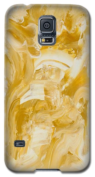 Galaxy S5 Case featuring the painting Golden Flow by Irene Hurdle