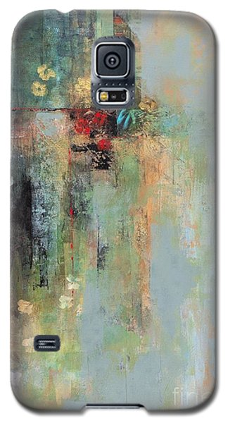 Galaxy S5 Case featuring the painting Golden Flowers by Frances Marino