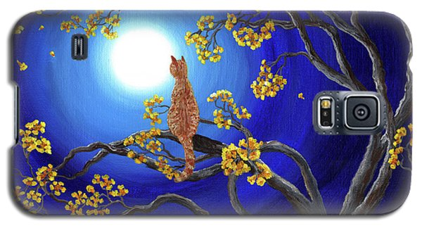 Golden Flowers In Moonlight Galaxy S5 Case