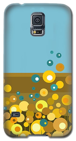 Golden  Flowers Galaxy S5 Case by Val Arie