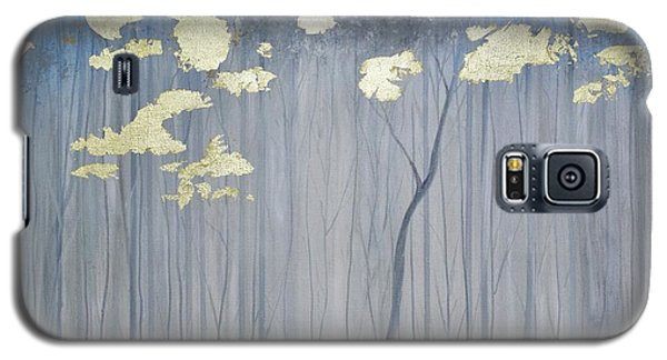 Galaxy S5 Case featuring the painting Golden Forest by Mary Scott