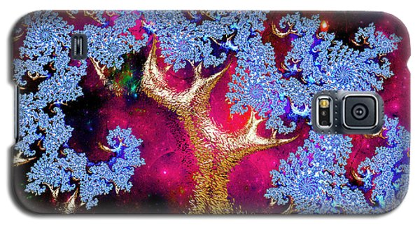 Golden Fractal Tree Galaxy S5 Case