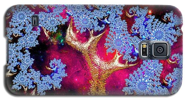 Golden Fractal Tree Galaxy S5 Case