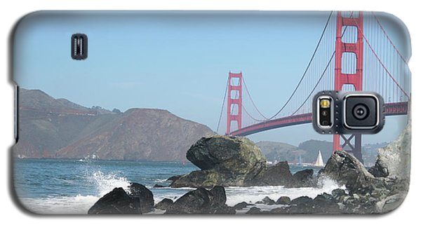 Golden Gate Beach Galaxy S5 Case