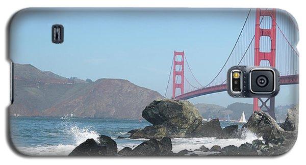 Galaxy S5 Case featuring the photograph Golden Gate Beach by Wilko Van de Kamp