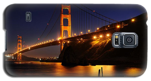 Galaxy S5 Case featuring the photograph Golden Gate Bridge 1 by Vivian Christopher