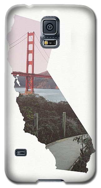 Galaxy S5 Case featuring the mixed media Golden Gate Bridge California- Art By Linda Woods by Linda Woods