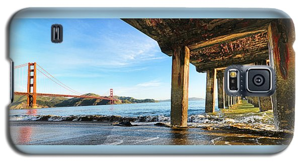 Galaxy S5 Case featuring the photograph Golden Gate Bridge From Under Fort Point Pier by Steve Siri