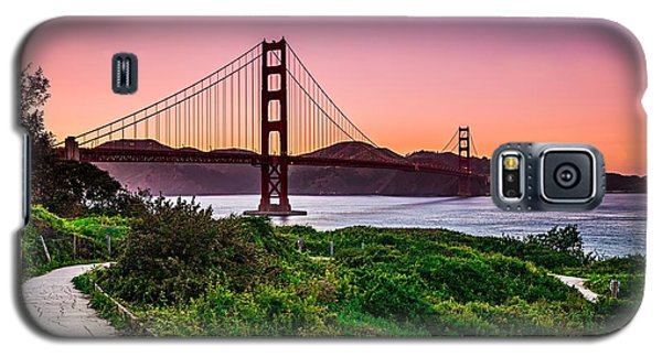 Golden Gate Bridge San Francisco California At Sunset Galaxy S5 Case