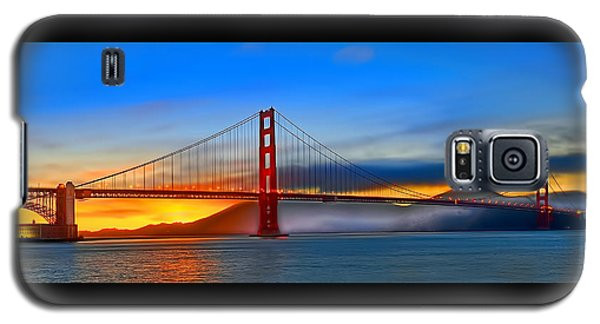 Galaxy S5 Case featuring the photograph Golden Gate Bridge Sunset by Steve Siri