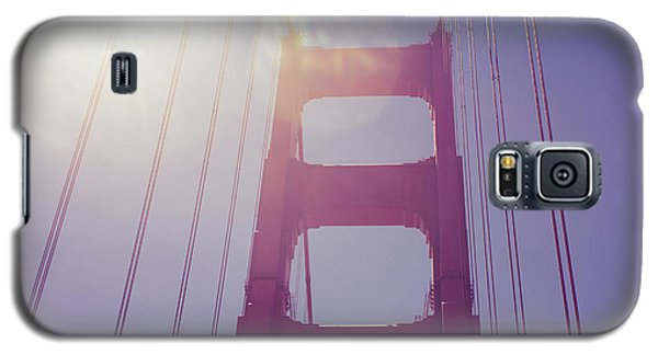 Galaxy S5 Case featuring the photograph Golden Gate Bridge The Iconic Landmark Of San Francisco by Jingjits Photography