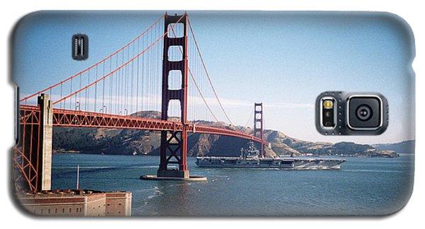 Golden Gate Bridge With Aircraft Carrier Galaxy S5 Case