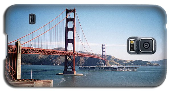Golden Gate Bridge With Aircraft Carrier Galaxy S5 Case