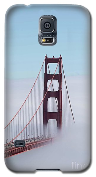 Galaxy S5 Case featuring the photograph Golden Gate Fogged - 3 by David Bearden