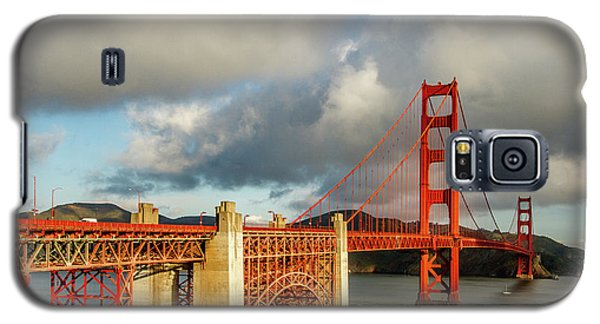 Galaxy S5 Case featuring the photograph Golden Gate From Above Ft. Point by Bill Gallagher