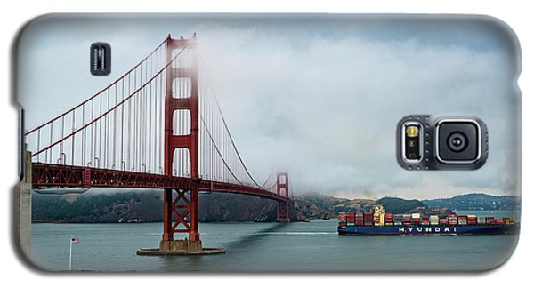 Golden Gate Ship Galaxy S5 Case