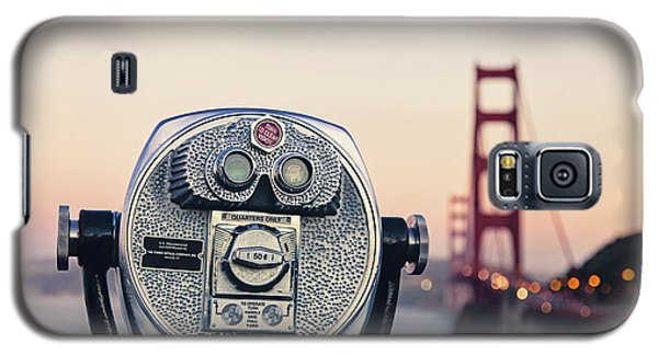 Galaxy S5 Case featuring the photograph Golden Gate Sunset - San Francisco California Photography by Melanie Alexandra Price