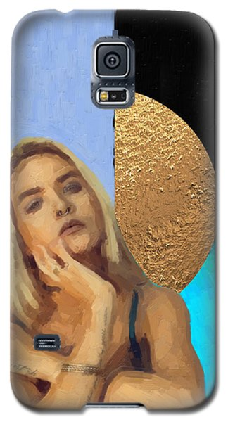 Galaxy S5 Case featuring the digital art Golden Girl No. 4  by Serge Averbukh