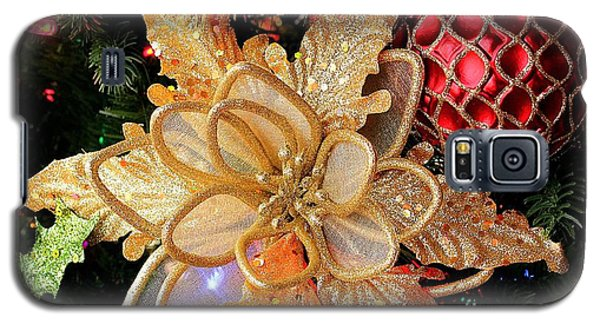 Golden Glitter Christmas Ornaments Galaxy S5 Case