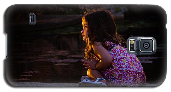 Golden Glow Girl Galaxy S5 Case