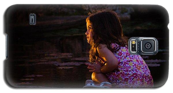 Golden Glow Girl Galaxy S5 Case