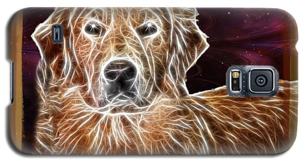 Galaxy S5 Case featuring the photograph Golden Glowing Retriever by EricaMaxine  Price