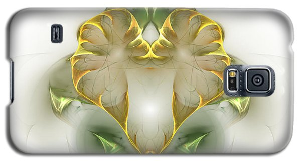 Galaxy S5 Case featuring the digital art Golden Heart by Richard Ortolano