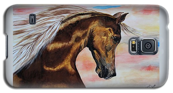 Golden Horse Galaxy S5 Case by Melita Safran
