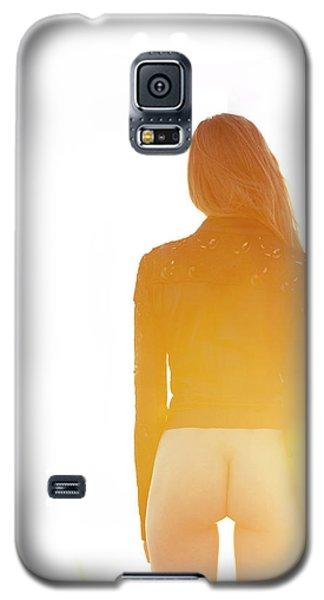Golden Hour Girl Galaxy S5 Case