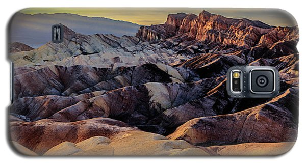 Golden Hour Light On Zabriskie Point Galaxy S5 Case