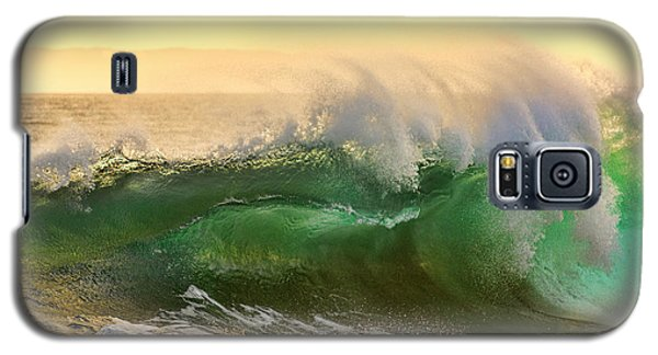 Galaxy S5 Case featuring the photograph Golden Hour Waves by Eddie Yerkish