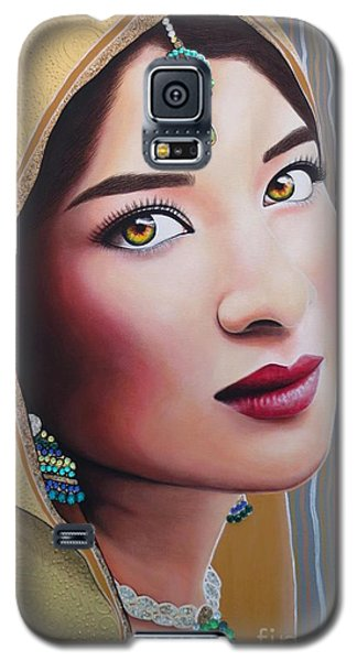 Golden Indian Bride Galaxy S5 Case by Malinda Prudhomme