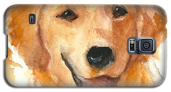 Golden Retriever Watercolor Painting By Kmcelwaine Galaxy S5 Case