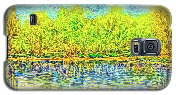 Golden Lake Reflections Galaxy S5 Case by Joel Bruce Wallach