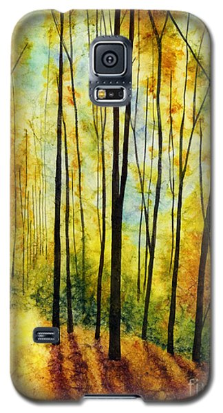 Galaxy S5 Case featuring the painting Golden Light by Hailey E Herrera